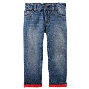 Microfleece-Lined Jeans - Dark Heritage Wash