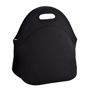 Hippih Insulated Waterproof Durable Neoprene Lunch Tote Bag ,Black