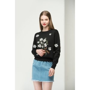 Sweater With Flower Print TP1790