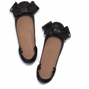 $129 + 包邮Tory Burch DIVINE BOW 蝴蝶结超柔软平底单鞋