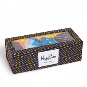 Black Multi Socks Box Set: Zig Stripe style | Happy Socks