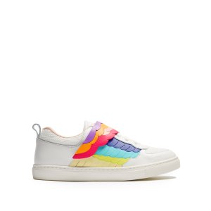 Fire Bird low-top leather trainers | Sophia Webster