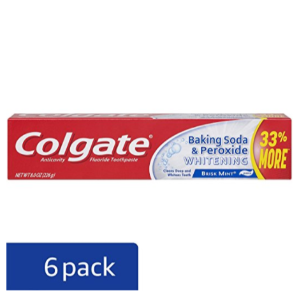 $9.42Colgate Baking Soda and Peroxide Whitening Bubbles Toothpaste, 8 Ounce (Pack of 6)