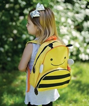 Skip Hop Zoo Toddler Kids Insulated Backpack Brooklyn Bee, 12 inches, Yellow