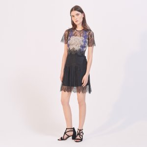 Triple Lace Dress - Dresses - Sandro-paris.com