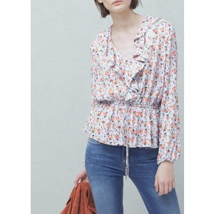 Ruffled neck blouse -  Women | OUTLET USA