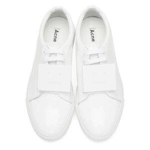 White Patent Adriana Sneakers