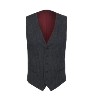 'Bacer BS' | Slim Fit, Stretch Cotton Blend Melange Vest