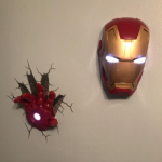 3D Light FX Marvel Iron Man Mask 3D Deco LED Wall Light: Toys & Games