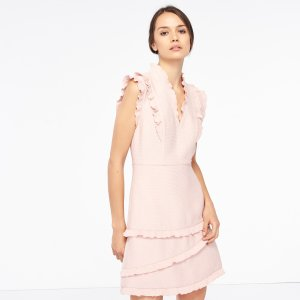 Honeycomb Fabric Sleeveless Dress - Dresses - Sandro-paris.com