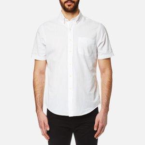 Polo Ralph Lauren Men's Seersucker Short Sleeve Shirt - White