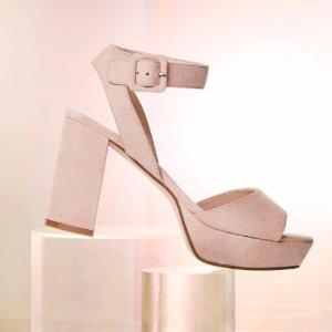 额外8.5折Marc Fisher 女士鞋履促销 收平价版花瓣鞋
