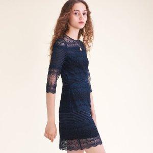 RIZZIE Two-tone lace dress