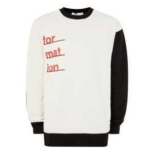 White and Black Printed Sweatshirt - New Arrivals - New In