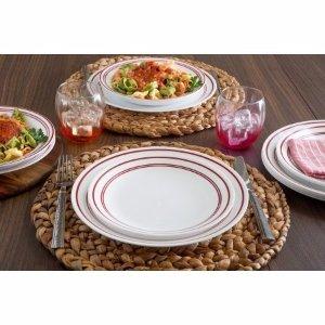 Corelle Livingware 16-Piece Dinnerware Set, Classic Cafe Red - Walmart.com