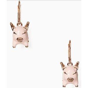 imagination pig drop earrings