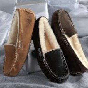 $73.97(原价$125)Ugg Ansley系列女士羊毛平底鞋