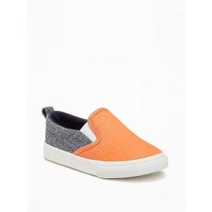 Color-Blocked Slip-Ons for Toddler Boys