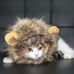 $5.94 (原价$9.99) 销量冠军闪购:Dogloveit 万圣节宠物狮子鬃毛假发