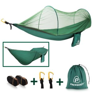 PACKGOUT Camping Hammock with Mosquito Net