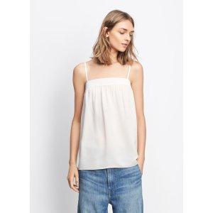 Embroidered Silk Cami for Women | Vince