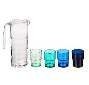 Tiers Pitcher & Tumblers Set of 5 - Shades of Blue