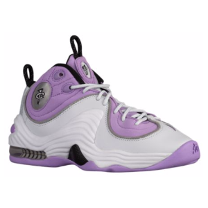 Nike Air Penny II - Girls' Grade School - Basketball - Shoes - Pure Platinum/Black/Urban Lilac