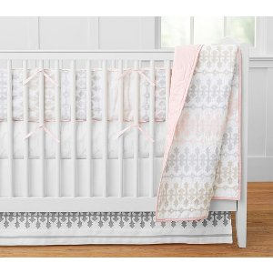 Margot Belgian Flax Linen Baby Bedding | Pottery Barn Kids