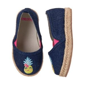 Toddler Girls Chambray Pineapple Espadrilles by Gymboree
