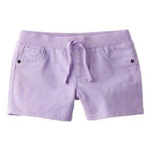 Girls 7-16 SO® Ribbed Waist Lavender Shorts