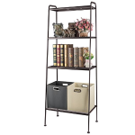 3S Ladder Bookcase,Shelves Storage Organizer Rack 4 Shelf (Large)