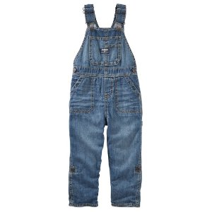 Baby Boy Jersey-Lined Convertible Denim Overalls | OshKosh.com