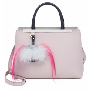 Fendi - 2Jours Fur-Detail Leather Shopper - saks.com