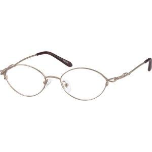 Gold Metal Alloy Full-Rim Frame #4527 | Zenni Optical Eyeglasses