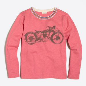 Boys' long-sleeve motorcycle storybook T-shirt : storybook t-shirts | J.Crew Factory