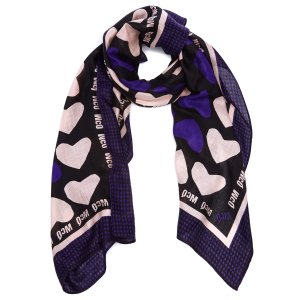 McQ Alexander McQueen Women's McQ Hearts Scarf - Iris - Free UK Delivery over £50