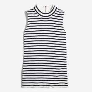 Striped cotton sweater-vest : FactoryWomen Pullovers | Factory