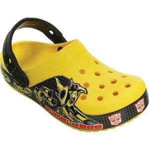 Boys Crocs Crocband Transformers Bumblebee Clog Kids - FREE Shipping & Exchanges