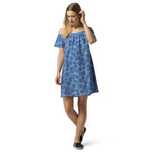FOULARD OFF-THE-SHOULDER DRESS   Tommy Hilfiger