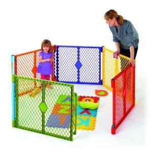 North States Color Superyard Baby/Pet Gate & Portable Play Yard - 6 Panel | 8769  | eBay
