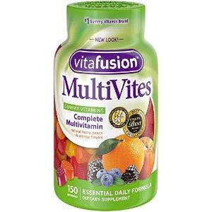 $6.64 包邮超好吃: Vitafusion 水果味综合维生素软糖 150粒