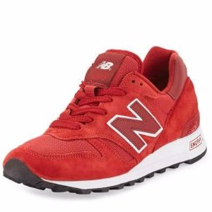New Balance Men's 1300 Age of Exploration Bespoke Suede Sneaker, Red/White