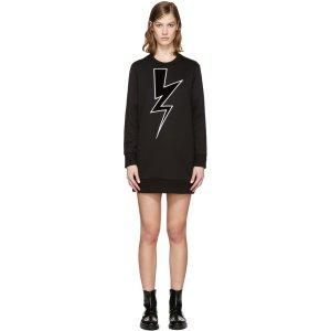 Neil Barrett: Black Thunderbolt Dress