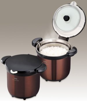 $138.93 Shipping IncludedTHERMOS Vacuum Insulation Cooker Shuttle Chef 4.5L Clear Brown KBG-4500 CBW