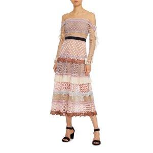 Bellis Off-The-Shoulder Lace Trim Dress | Moda Operandi