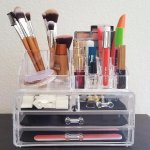 Jewelry and Cosmetic Storage 2 Piece Acrylic Makeup Organizer