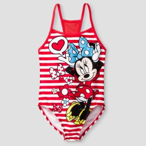 Girls' Minnie One Piece Swimsuit - Red : Target