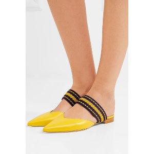 Malone Souliers | + Roksanda Hannah leather point-toe flats
