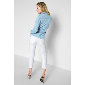 白色牛仔9分裤,细腿妹子可以买。很百搭