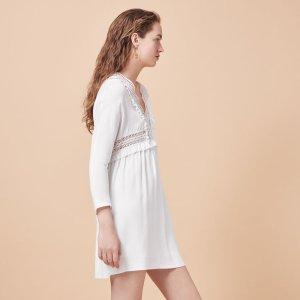 RIAM Crêpe dress with openwork details - Dresses - Maje.com